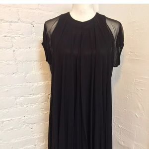 Doo Ri Bubble Hem Shift Dress Black size 2 NWT